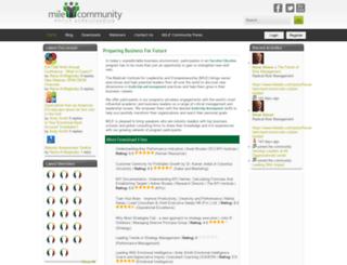 community.mile.org screenshot