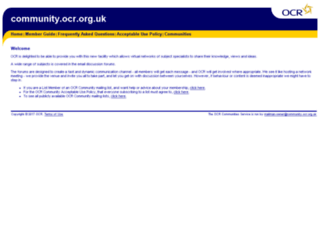 community.ocr.org.uk screenshot