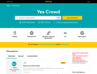 community.optus.com.au screenshot