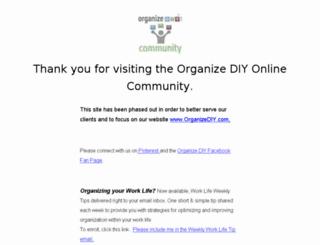 community.organizediy.com screenshot