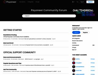 community.payoneer.com screenshot