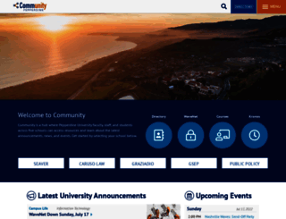 community.pepperdine.edu screenshot