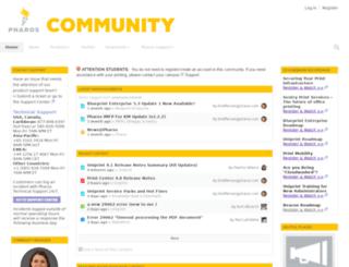 community.pharos.com screenshot