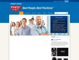 community.phccweb.org screenshot