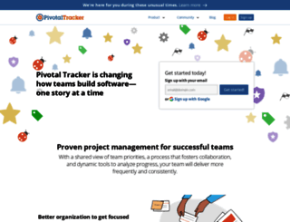 community.pivotaltracker.com screenshot