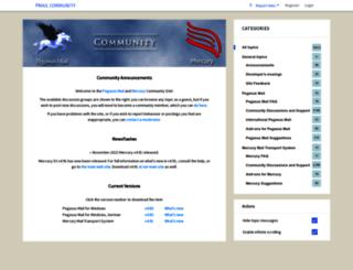 community.pmail.com screenshot