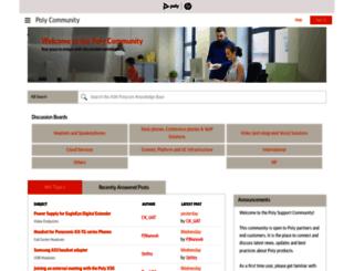 community.polycom.com screenshot