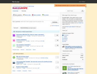 community.raileurope.com screenshot