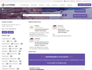 community.rapidminer.com screenshot
