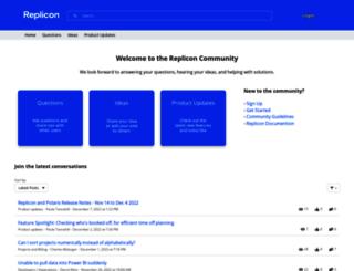 community.replicon.com screenshot