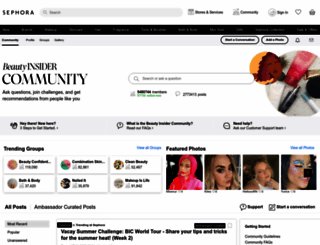 community.sephora.com screenshot