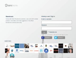 community.sharetronix.com screenshot