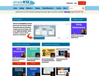 community.simplek12.com screenshot