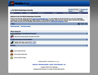 community.simpleology.com screenshot