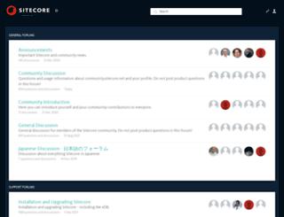 community.sitecore.net screenshot