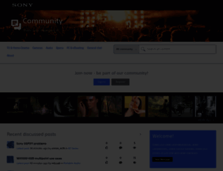 community.sony.cz screenshot