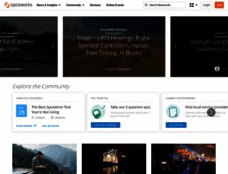 community.spiceworks.com screenshot