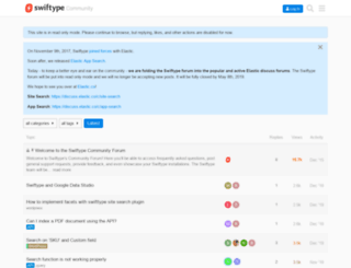 community.swiftype.com screenshot