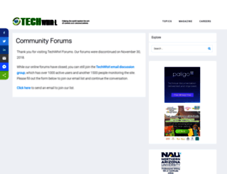 community.techwhirl.com screenshot