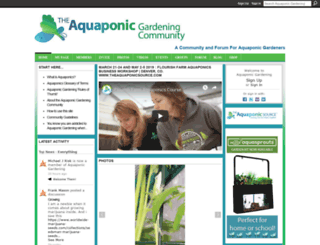 community.theaquaponicsource.com screenshot