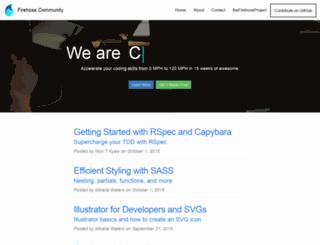 community.thefirehoseproject.com screenshot