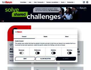 community.tmforum.org screenshot
