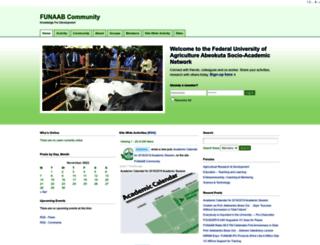 community.unaab.edu.ng screenshot