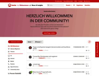 community.upc-cablecom.ch screenshot