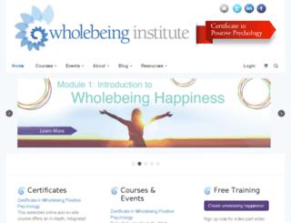 community.wholebeinginstitute.com screenshot