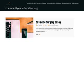 communityandeducation.org screenshot