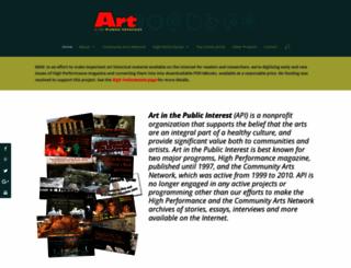 communityarts.net screenshot