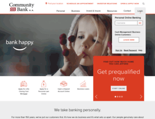 communitybankna.com screenshot