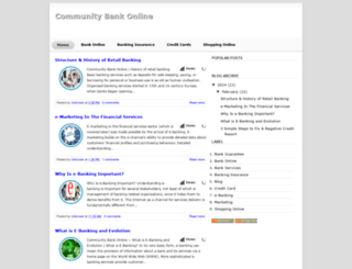 communitybankonline.blogspot.com screenshot