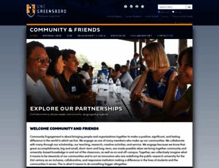 communityengagement.uncg.edu screenshot