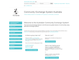 communityexchange.net.au screenshot