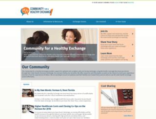 communityforahealthyexchange.com screenshot