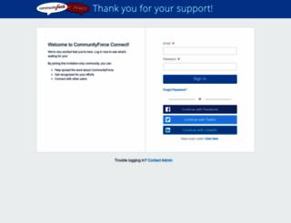 communityforce.influitive.com screenshot