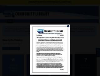 communitylibrary.org screenshot