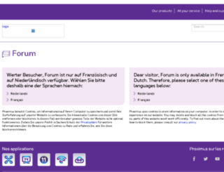 communitylogin.belgacom.be screenshot