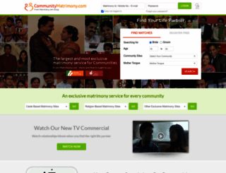 communitymatrimony.com screenshot