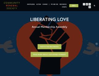 communityrenewalsociety.org screenshot
