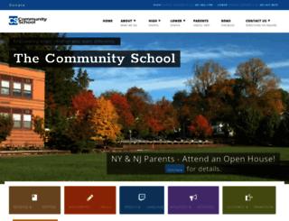 communityschoolk12nj.org screenshot