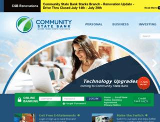 communitystatebank-flonline.com screenshot