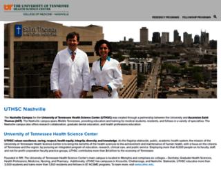 comnashville.uthsc.edu screenshot