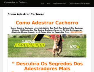 comoadestrarcachorro.blog.br screenshot
