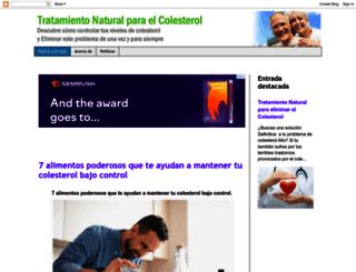 comoeliminarcolesterol.blogspot.mx screenshot