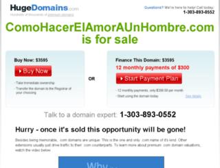 comohacerelamoraunhombre.com screenshot