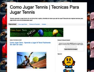 comojugartennisfacilmente.blogspot.mx screenshot