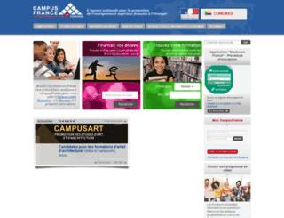 comores.campusfrance.org screenshot
