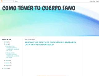 comotenertucuerposano.blogspot.com screenshot